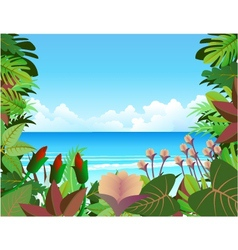 forest beach background vector image