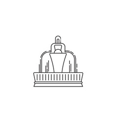 fountain icon linear design isolated on vector image vector image