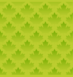 green maple leaves seamless pattern vector image vector image