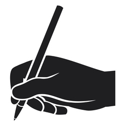 hand writing vector image vector image