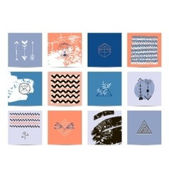 set of artistic cards vector image