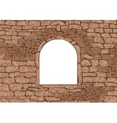 stone window vector image vector image