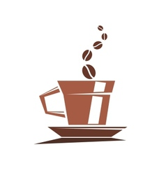 Strong cup of full roast coffee vector image vector image
