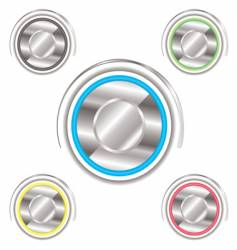 variation power buttons vector image vector image
