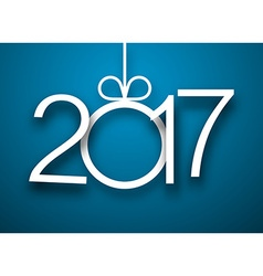 2017 New Year blue background vector image