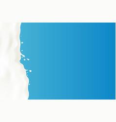 a splash of milk vector image