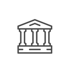 Ancient building line icon vector