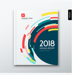 Annual report abstract colorful geometric circle vector