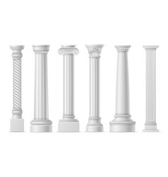 antique white columns roman historical stone vector image