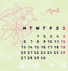 april 2015 flowers vector image