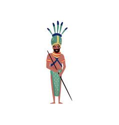 australian aboriginal character in ethnic vector image