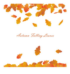 autumn frame with falling maple leaves on w vector image