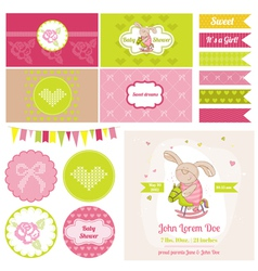 Baby Bunny on a Horse Theme vector