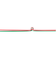 Banner with italian and mexican flag isolated on vector
