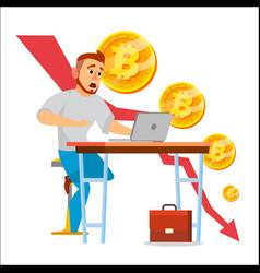 Bitcoin crash graph bitcoin crypto vector
