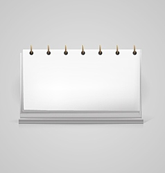 blank desk calendar mock-up vector image
