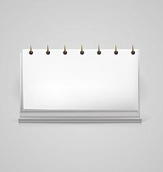 blank desk calendar mock-up vector image