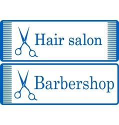 Blue barbershop signboard vector