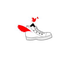 bright fun sports shoes vector image