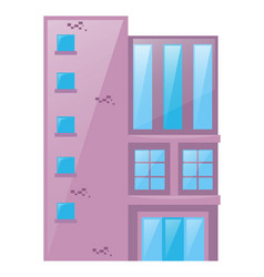 building with many stories vector image