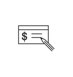 buying check line icon simple modern flat for vector image
