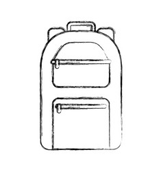 Camping bag travel icon vector