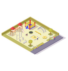 children playground equipment flat vector image