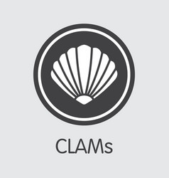 Clams digital currency clam web icon vector