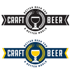 craft beer banner style badge or label vector image