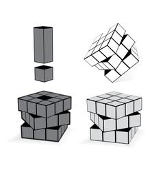 Cube in three variation vector
