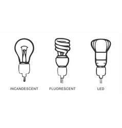 different types of lamps vector image