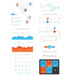 Elements infographics and user interface vector