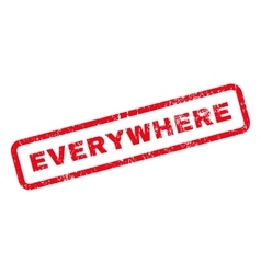 Everywhere Text Rubber Stamp vector