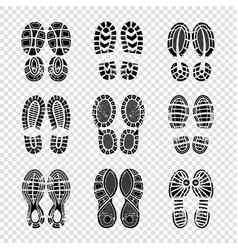 footprint human walking boots soles steps vector image