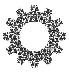 Gear wheel composition of female icons vector