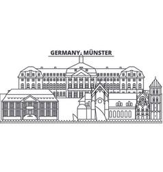 Germany munster line skyline vector