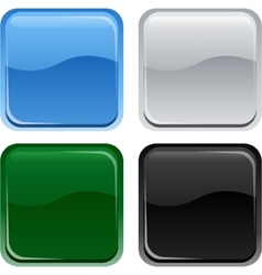 Glossy web square buttons vector