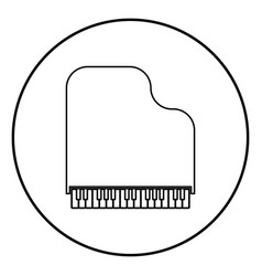 grand piano icon black color simple image vector image