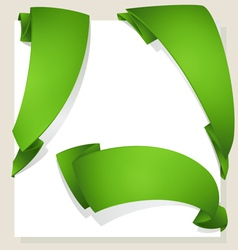 Green ribbon vector