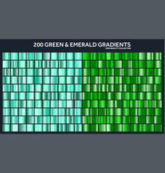 Grren emerald chrome gradient setpattern vector