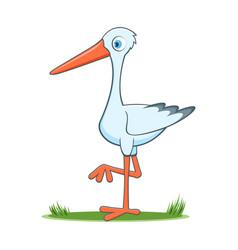 happy cartoon stork vector image