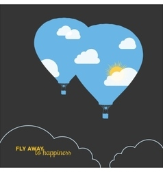 Hot air balloon colorful abstract vector