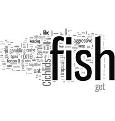 How to keep predator fish vector