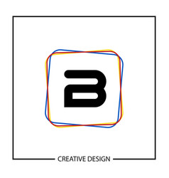 initial letter b logo template design vector image