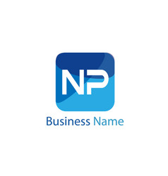 Initial letter np logo template design vector