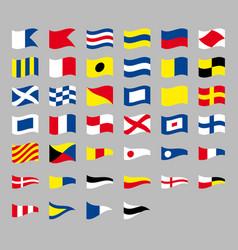International maritime signal nautical waving flag vector