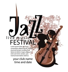 Jazz poster concept vector image