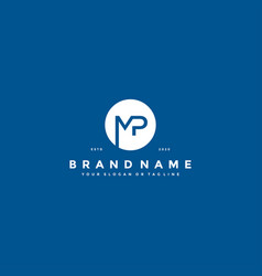 Letter mp logo design vector