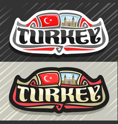 Logo for turkey country vector