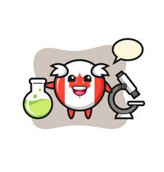 Mascot character canada flag badge as a vector